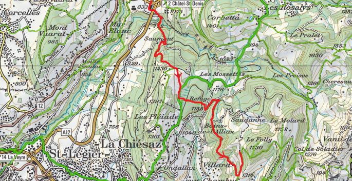 Plan Châtel depuis Châtel-St-Denis