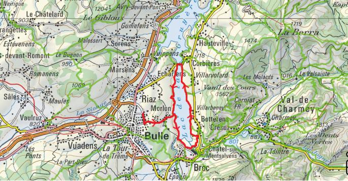 Tour du Lac de Gruyères