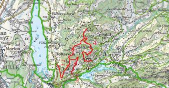Vanil des Cours depuis Botterens, Vanil des Cours depuis Châtel-sur-Montsalvens, Vanil des Cours depuis Crésuz