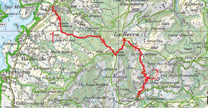La Berra depuis La Roche et La Valsainte
