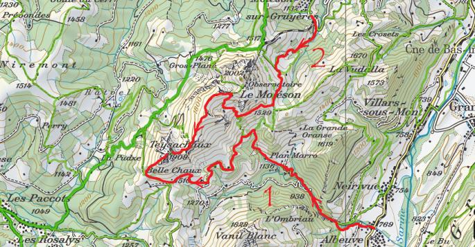 Teysachaux depuis Albeuve et Moléson-sur-Gruyères