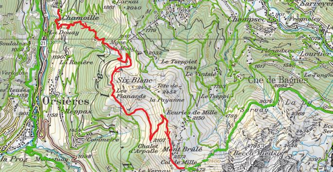 Col de Mille depuis Chamoille