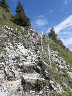 La montée vers le Kaiseregg